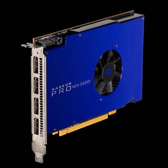 AMD представила видеокарту Radeon Pro SSG сослотами для SSD наборту