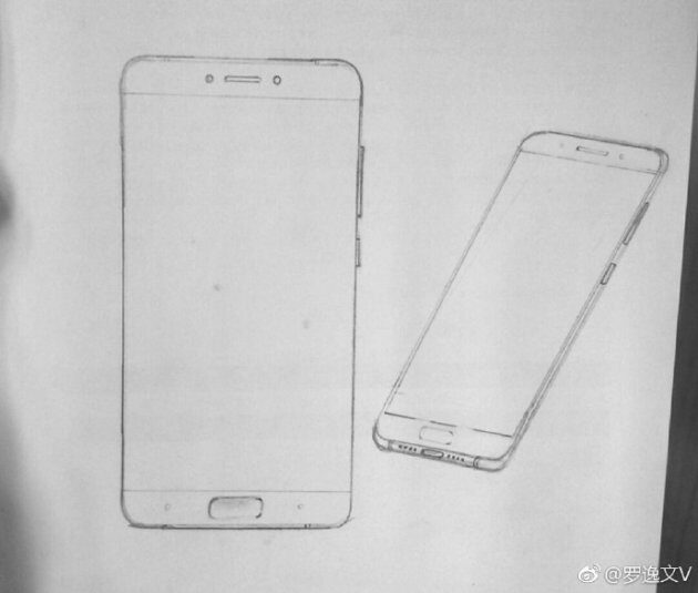Флагман Xiaomi Mi6 наэскизах