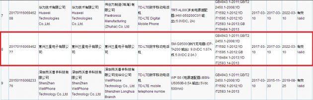Сертификация Galaxy S8 3C