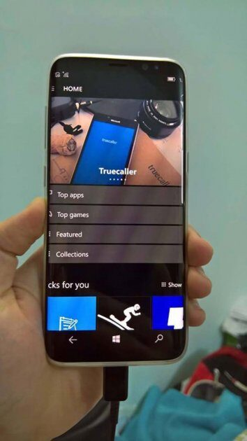 Samsung Galaxy S8 на Windows 10 Mobile