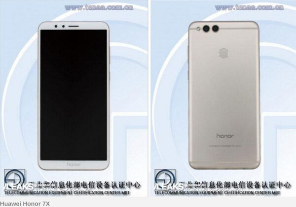 Выявлены технические данные телефона Honor 7X