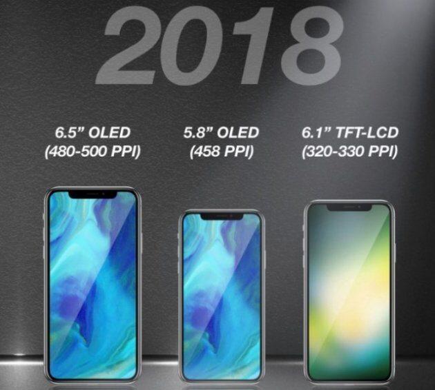 В 2018 году Apple выпустит три новых устройства, похожих на iPhone X