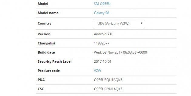 Galaxy S8 и Galaxy S8 + получают новое обновление