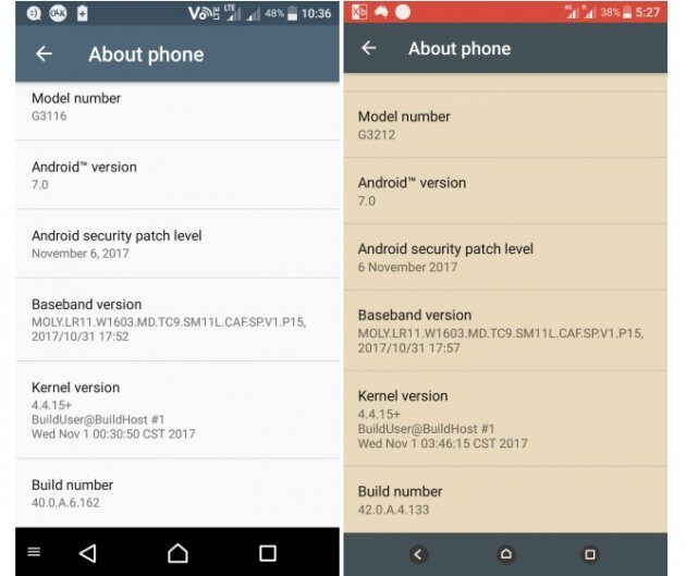 Смартфоны Sony Xperia XA1 получают ноябрьский патч безопасности