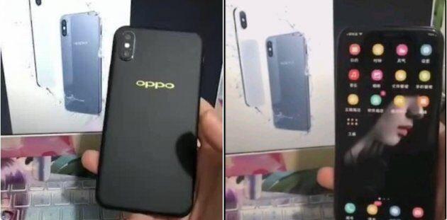 Изображения Oppo R13 указывают на его сходство с iPhone X