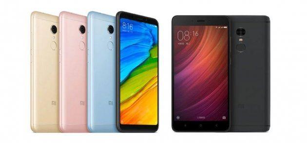 Сравнение характеристик Xiaomi Redmi 5 Plus против Redmi Note 4