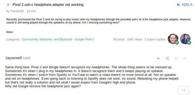 У некоторых пользователей Google Pixel 2 не работает адаптер для наушников, вот решение