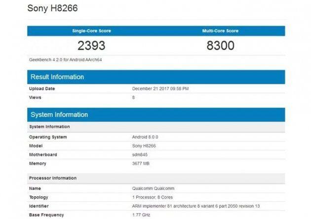 Новая информация раскрывает объем памяти в смартфонах Sony H8216 и H8266