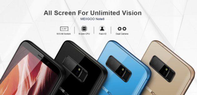 Копия Samsung Galaxy Note8 от Meiigoo за 160 долларов удивляет своими способностями