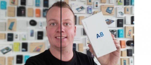 Снимки с фронтальной камеры Galaxy A8 (2018)