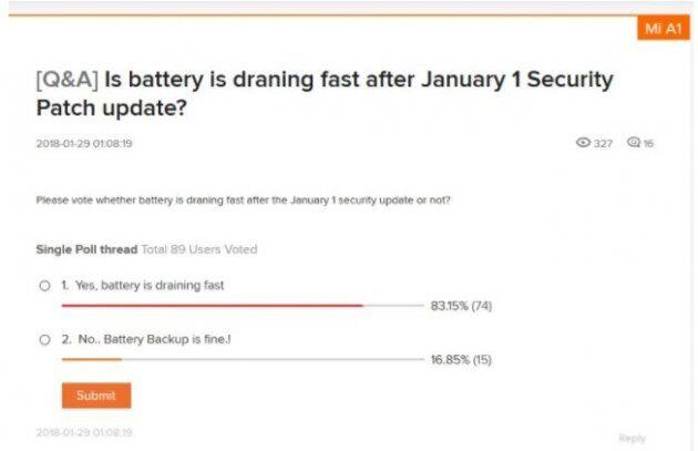 Последнее обновления Oreo для Xiaomi Mi A1 приносит новые ошибки и проблемы