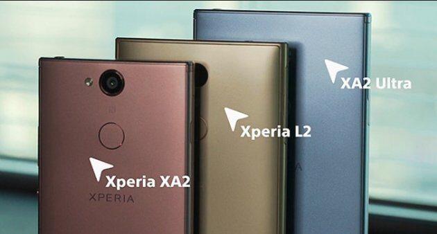 Sony официально представила цены на Xperia XA2, XA2 Ultra и L2