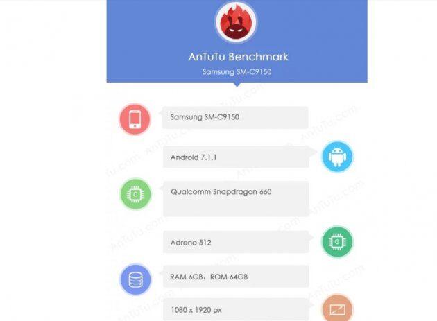 Samsung Galaxy C10 замечен при тестировании в AnTuTu