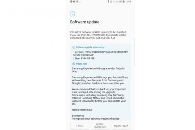 Android Oreo получают Galaxy S8 и S8 Plus, не зарегистрированные в бета-программе