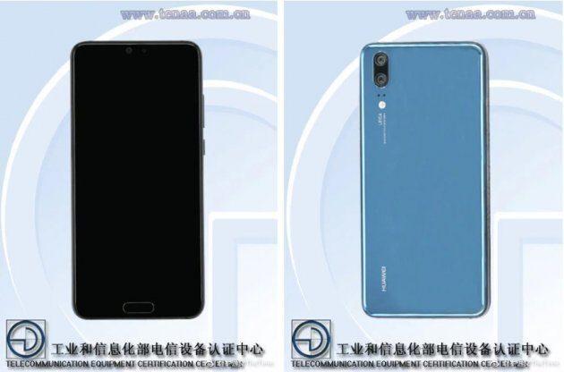 Изображения Huawei P20 на TENAA демонстрируют iPhone X-подобный вырез
