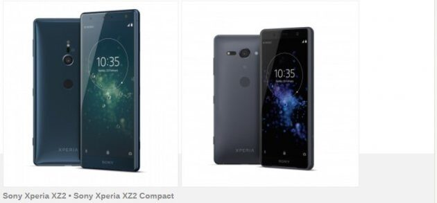 Стали известны цены Sony Xperia XZ2 и XZ2 Compact в Германии