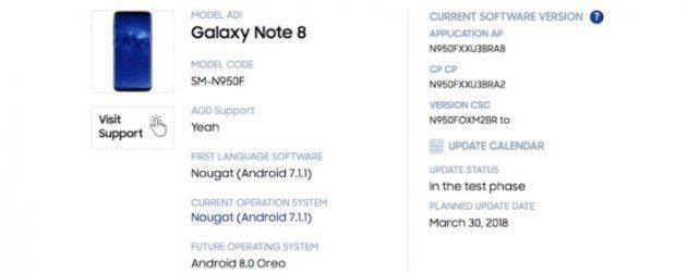 Samsung опубликовал график обновления некоторых устройств серии Galaxy до Android Oreo