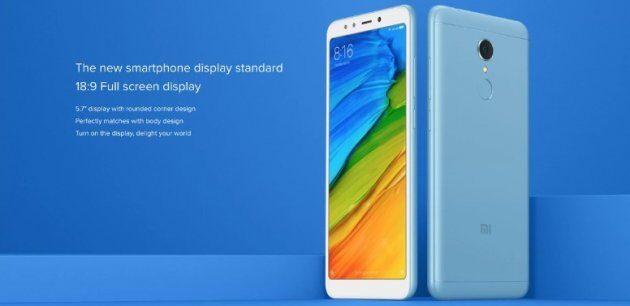 Xiaomi запустила смартфон Redmi 5 по более низкой цене в Индии