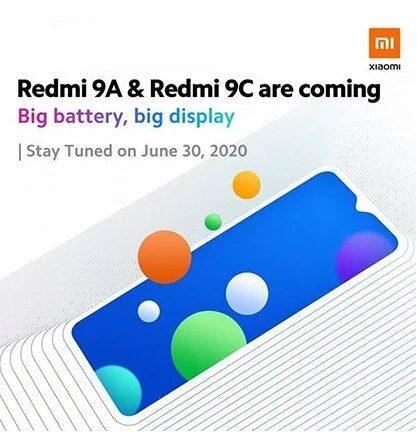 Xiaomi представит смартфоны Redmi 9A и Redmi 9C уже завтра